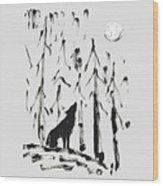 Howl #2 Wood Print