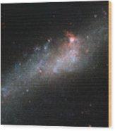 Hubbles Hockey Stick Galaxy Wood Print