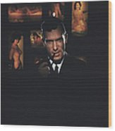 Hugh Hefner Wood Print