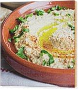 Hummus Mediterranean Style Wood Print