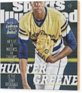 Hunter Greene Is The Star Baseball Needs Sports Illustrated Cover Wood Print