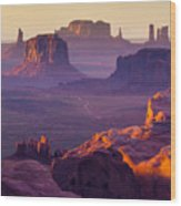 Hunts Mesa, Monument Valley - American Wood Print