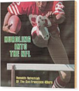 Hurdling Into The Nfl Renaldo Nehemiah Of The San Francisco Sports Illustrated Cover Wood Print