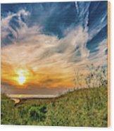 Huron Evening Wood Print