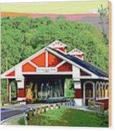 Huseston Woods Bridge Wood Print