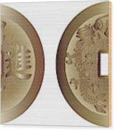 I Ching Coins Wood Print