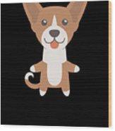 I Just Freaking Love Basenjis Cute Dog Design Wood Print