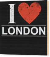 I Love London Wood Print