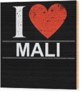 I Love Mali Wood Print