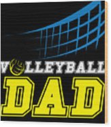 I Love Volleyball Team Player Ball Wood Print