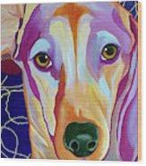 I Should Have Been Jackson Pollock's Dog Wood Print