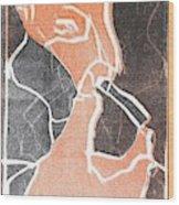 I Was Born In A Mine Woodcut 75 Wood Print