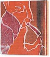 I Was Born In A Mine Woodcut 76 Wood Print