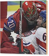 Ice Hockey - Day 10 - Russia V Czech Wood Print