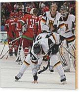 Ice Hockey - Day 9 - Germany V Belarus Wood Print