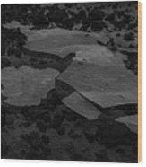 Ice Layer On The Seafloor Wood Print