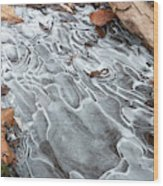 Ice Swirls Wood Print