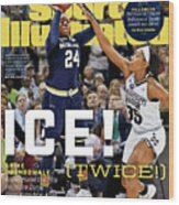 Ice Twice Arike Ogunbowale Brings Home The Title For Notre Sports Illustrated Cover Wood Print
