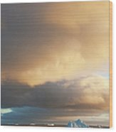 Icebergs At Sunrise In The Weddell Sea Wood Print