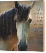 If Horses Could Talk - Verse Wood Print
