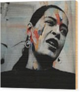 I'll Be Seeing You - Billie Holiday  Wood Print