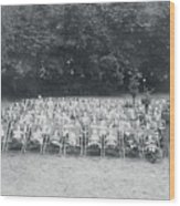 Ill Children Resting At Camp Wood Print