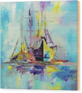 Illusive Boats Wood Print