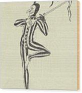 Illustration Of A Humorous Casanova Wood Print