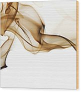 Image Of High Contrast Smoke Up Against Wood Print