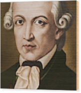 Immanuel Kant, Philosopher, Born In Konigsberg, Germany Wood Print