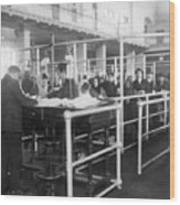 Immigrants Having Papers Checked Wood Print