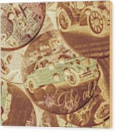 In Fashion Of Classic Cars Wood Print