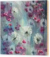 In The Night Garden - Pink Buds  Wood Print