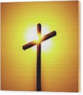In The Shadow Of The Cross Wood Print