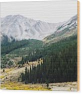 Independence Pass Wood Print