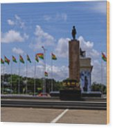 Independence Square Statue Wood Print