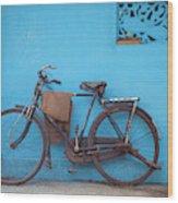 Indian Bike Wood Print
