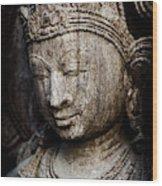 Indian Temple Goddess Wood Print