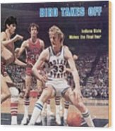 Indiana State Larry Bird, 1979 Ncaa Midwest Regional Sports Illustrated Cover Wood Print