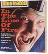 Indianapolis Colts Will Wolford, 1994 Nfl Football Preview Sports Illustrated Cover Wood Print