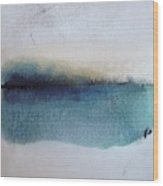 Indigo Blue Wood Print