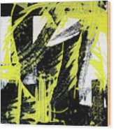 Industrial Abstract Painting II Wood Print