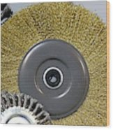 Industrial Wire Brush Attachment Wood Print