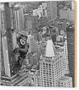 Inflatable King Kong On The Empire Wood Print