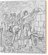 Inside A Cheshire Salt Mine, 1889 Wood Print