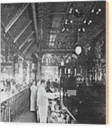 Inside Hannah And Hoggs Saloon Wood Print