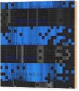 Inter Milan Pixels Wood Print