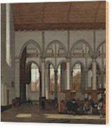 Interior Of The Oude Kerk  Amsterdam  Wood Print
