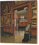 Interior View Of The Metropolitan Museum Of Art When In Fourteenth Street  Wood Print