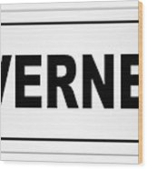 Inverness City Nameplate Wood Print